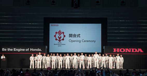 Erich Lechner beim Honda World Skills Contest 2019-